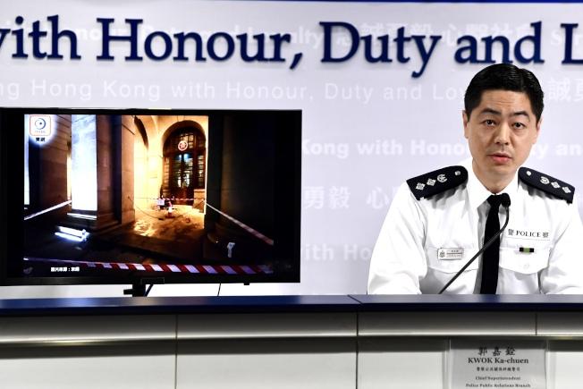 香港警察公共關係科總警司郭嘉銓表示,警方9日在上水拘捕12人,其中有6名學生及1名教師。(中通社)