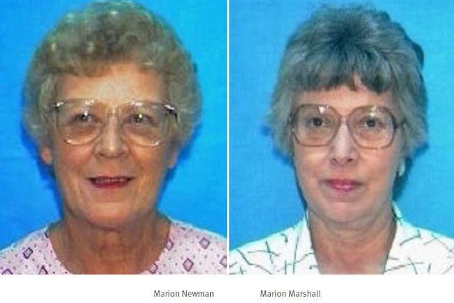 右為瑪琍昂·瑪西爾,左為瑪琍昂·紐曼,兩人於2006年被同一人殺害。(費郡警方提供)