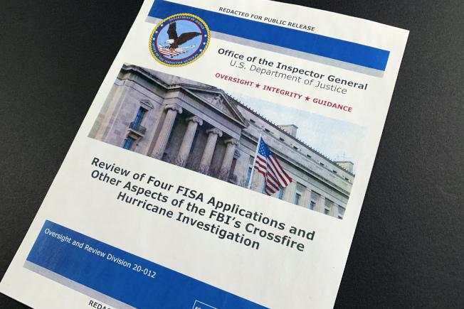 司法部督察長霍洛維茲9日提出司法部對通俄門調查的報告。(Getty Images)