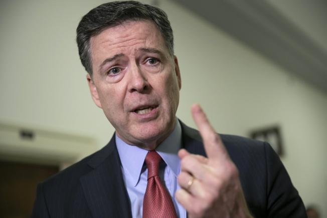 前調查局長柯米自認調查報告為他洗脫指控。(美聯社)