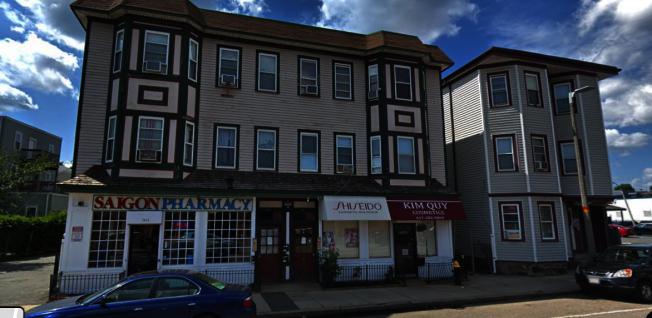 波士頓多卻斯特區費爾德角街區附近有許多越裔商戶。(谷歌地圖)