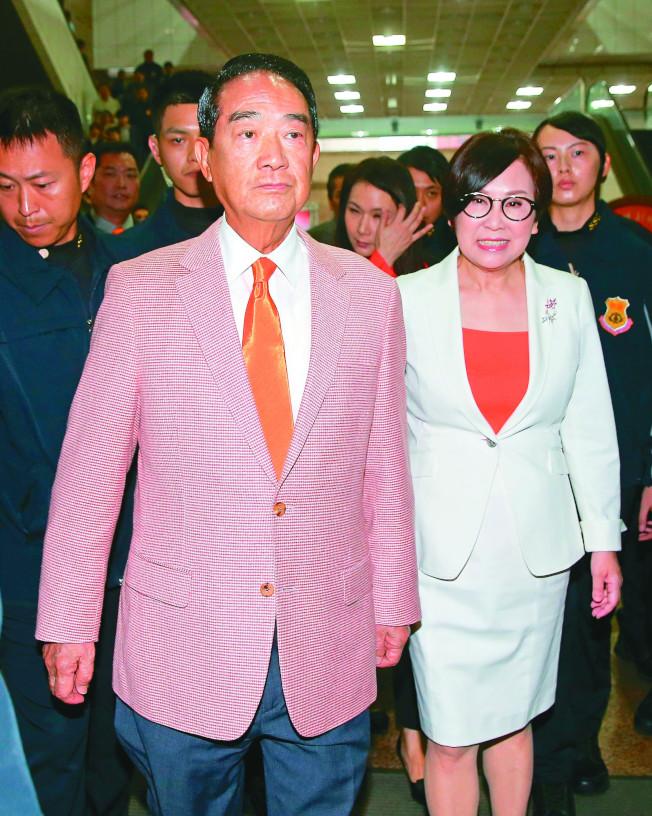 聯合報系台灣大選民調,宋余配支持率僅9%,大幅落後蔡賴配與韓張配。(記者余承瀚/攝影)
