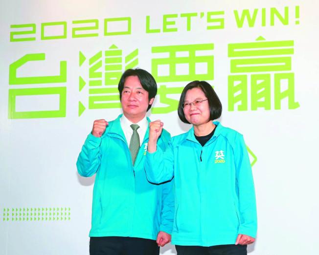 聯合報系台灣大選民調,蔡賴配以四成八的支持度,大幅領先韓張配與宋余配,但僅29%民眾相信這種差距。(記者胡經周/攝影)
