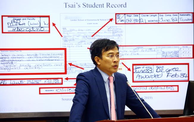 媒體人彭文正多次質疑蔡英文學位的真實性。(本報資料照片)