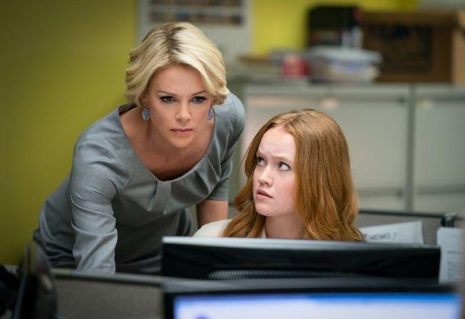 莎莉賽隆以「重磅腥聞」入圍金球獎戲劇類最佳女主角。圖/車庫提供
