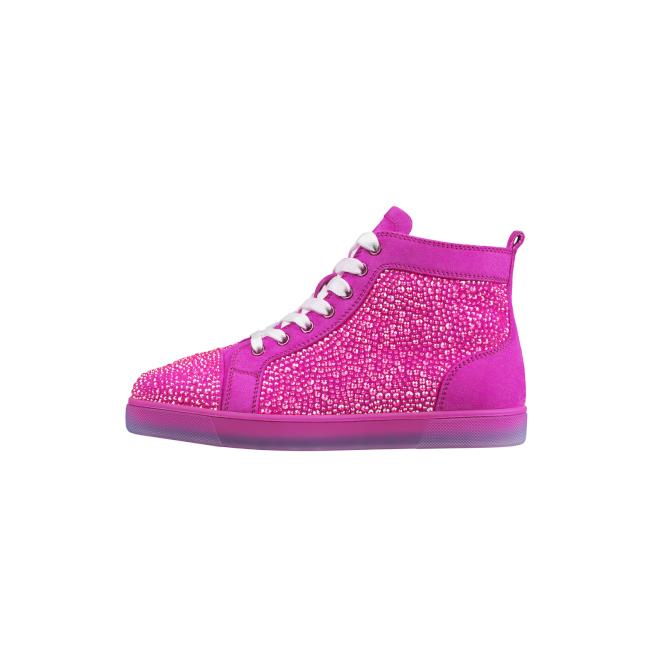 Louis Strass螢光粉休閒鞋具夜光效果。圖/Christian Louboutin提供