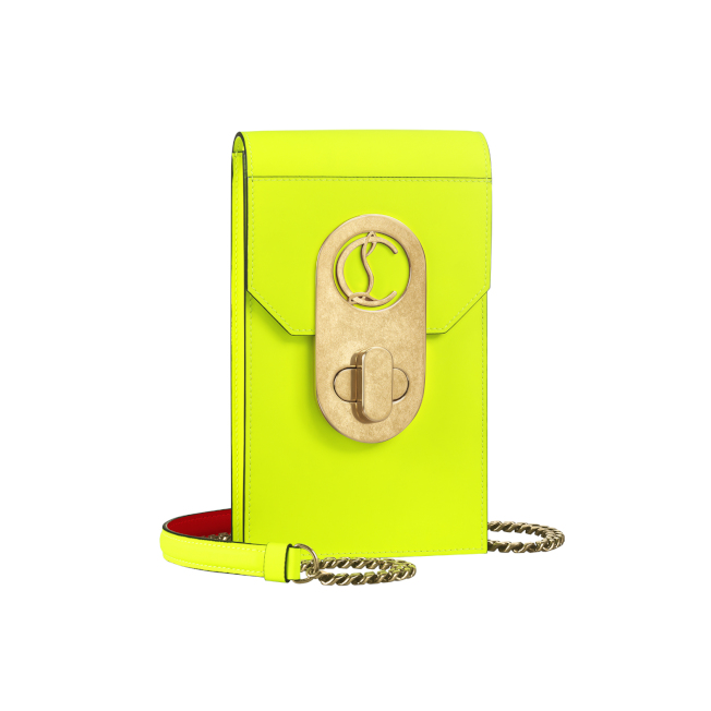 Elisa螢光黃手機包。圖/Christian Louboutin提供