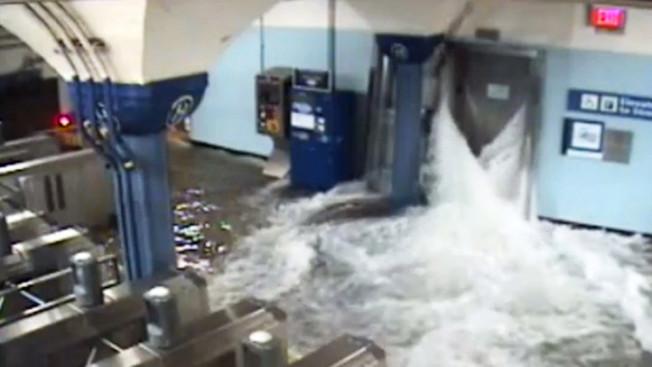 新州運輸局在颶風珊迪期間受損嚴重。(NBC電視台)