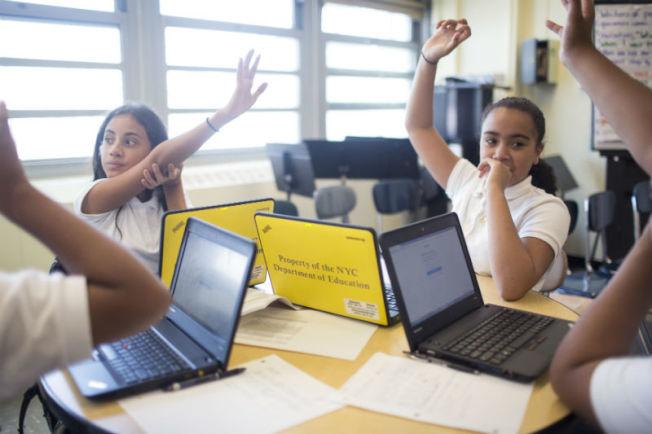 本學年共有16萬紐約市學生獲電腦科學教育,創下歷史新高。(取自市府官網)