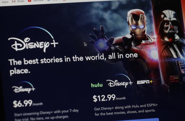 Apptopia公布,Disney+推出後的行動裝置下載次數已超過2,200萬次。美聯社