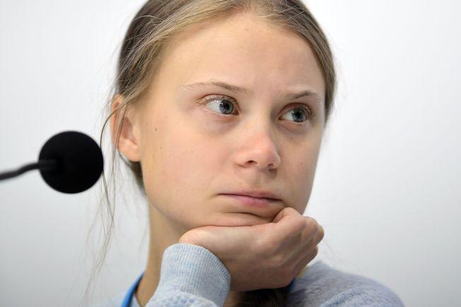 16歲瑞典環保少女童貝里獲得時代雜誌2019「年度風雲人物」殊榮。(Getty Images)