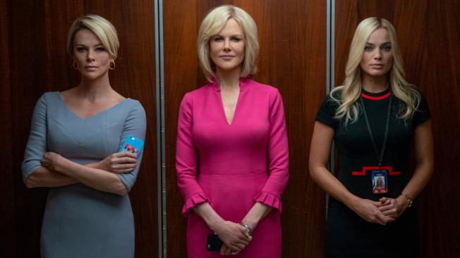 揭露福斯電台女主播如何扳倒性侵女員工多年的福斯新聞總裁羅傑艾爾斯的「重磅腥聞」入圍四項大獎。(圖:獅門公司提供)