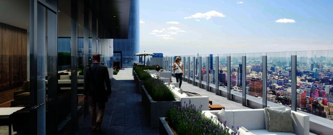 Manhattan West緊挨哈德遜園區,62層的「3 Manhattan West」是曼哈頓中城最高的出租公寓樓。(取自官網)