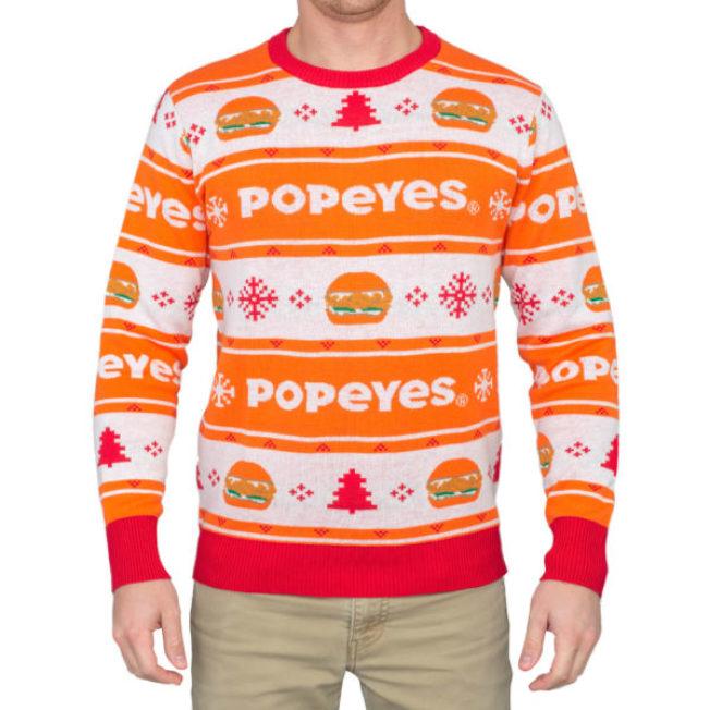 今年一砲而紅的佰百雞醜毛衣。(UglyChristmasSweater.com)