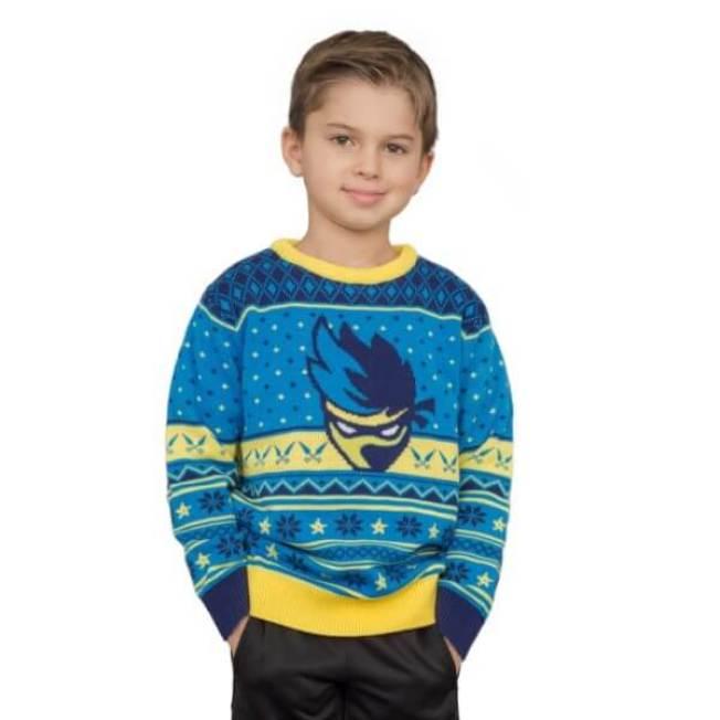 電競網紅「忍者」也有專屬醜毛衣。(UglyChristmasSweater.com)