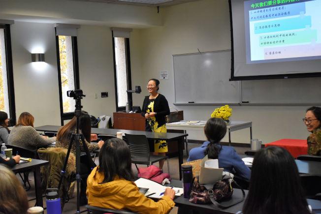 東點副校長李君蘭是南北卡首位華裔K-12校長資格證獲得者,目前主要研究領域為中文沉浸式教育中的混合教學。(南卡大學孔子學院提供)