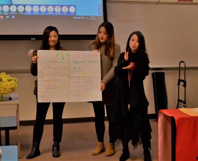 培訓以互動式教學的方式展開,與會中師在互動中將所學融會貫通到實際教學中。(南卡大學孔子學院提供)