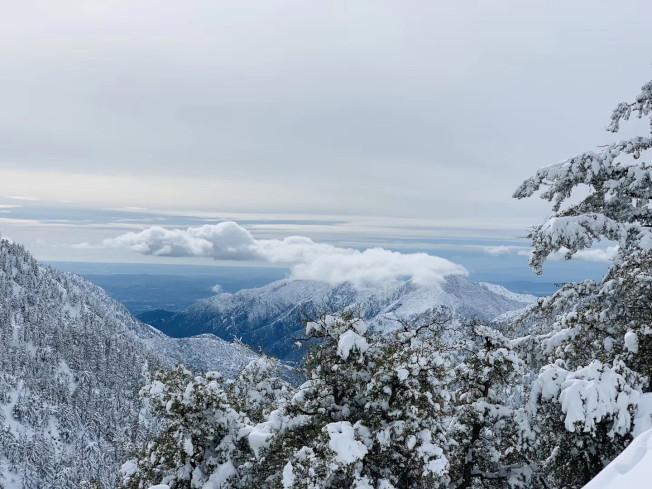 鮑迪山 雪景。(爾灣讀者提供)