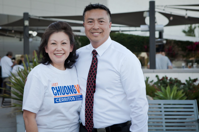 華裔女婿武文章參選2020年喜瑞都市議員選舉,實力不俗。(武文章提供)