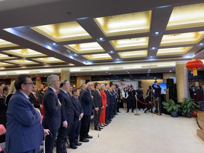 紐約中領館舉行澳門回歸20年招待會。(記者金春香/攝影)