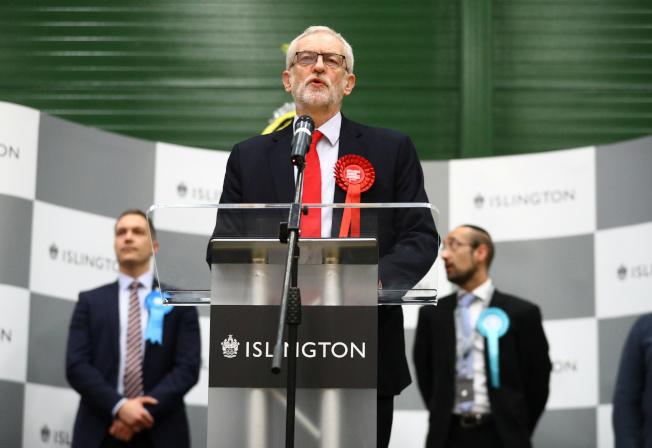 英國最大在野黨工黨連續4屆大選都吃下敗仗,黨魁柯賓宣布下次選戰將不再領導工黨。(路透)