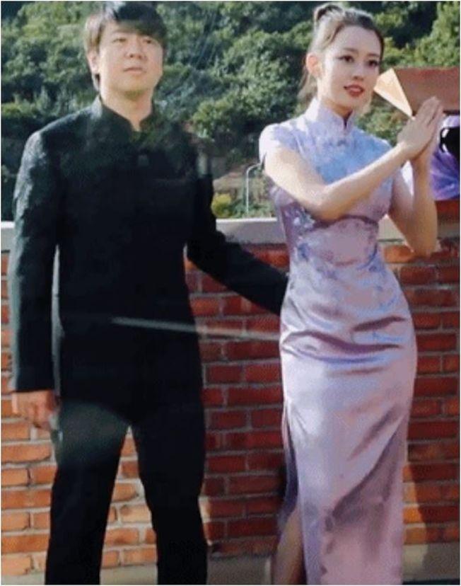 郎朗(左)和老婆吉娜(右)在節目上公開新婚生活。(截自影片)