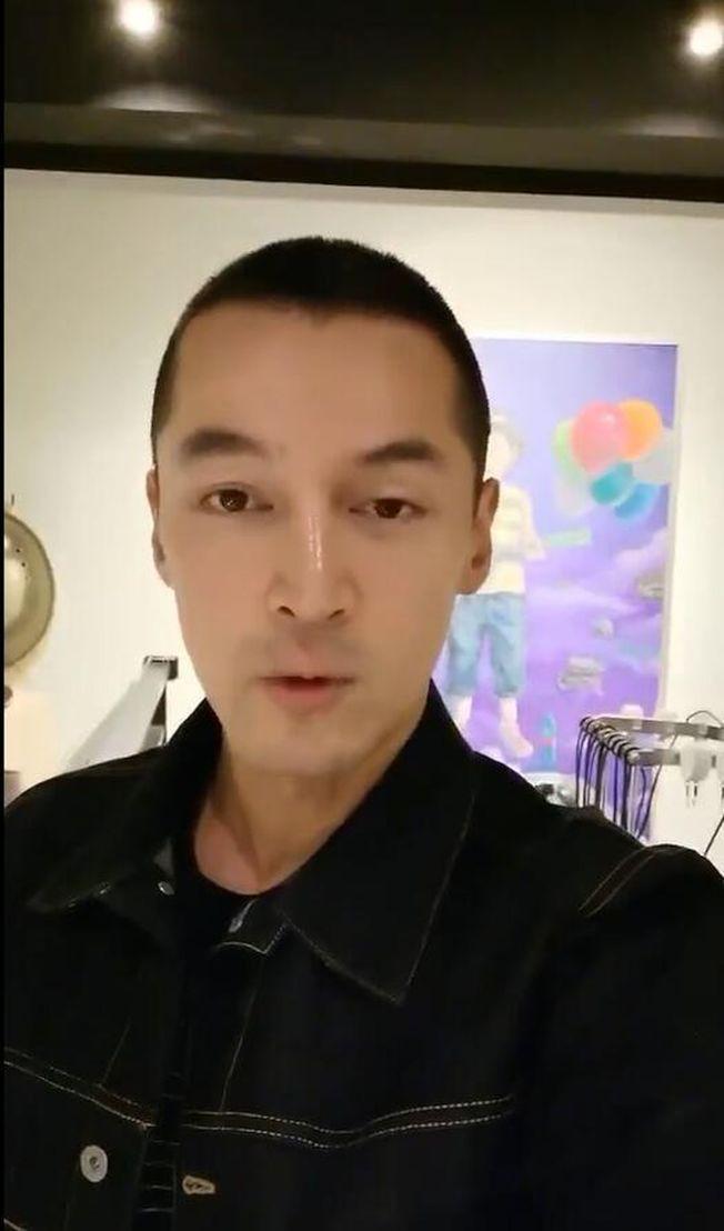 網友曝光胡歌為重病粉絲錄製了一段祝福視頻。(視頻截圖)