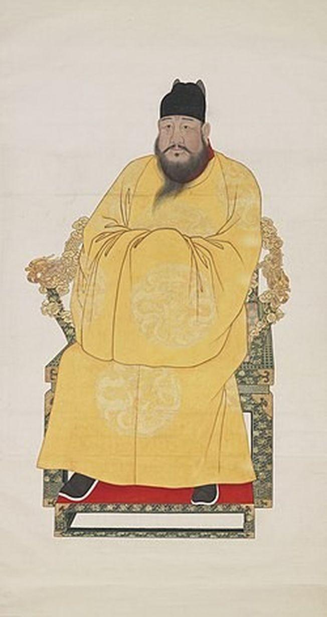 明宣宗歷史圖像確實有落腮鬍。(取材自維基百科)