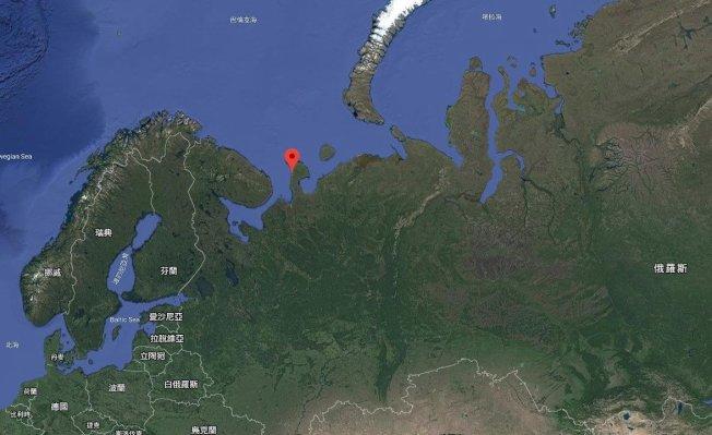 「紹伊納」(Shoyna)位於俄羅斯北部卡寧半島上。 圖/google map