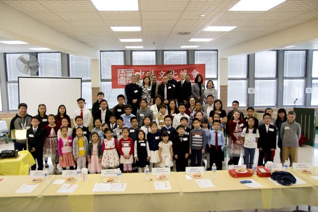 中美文化協會舉行愛迪生、中部、梅山、瑞谷、聯合等五所中文學校演講比賽,50名學生分七組進行。(中美文化協會提供)