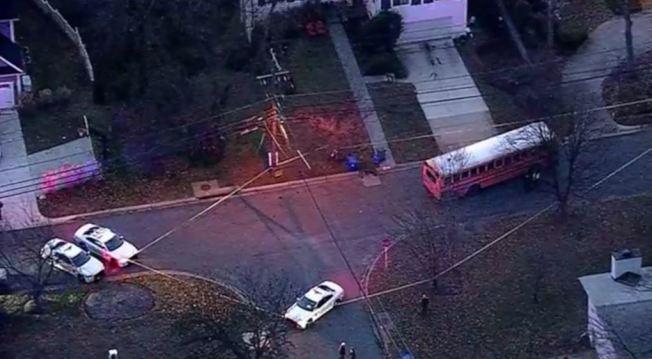 馬州蒙郡一名九歲女孩12日被校車撞傷,送醫不治。(ABC電視台截圖)