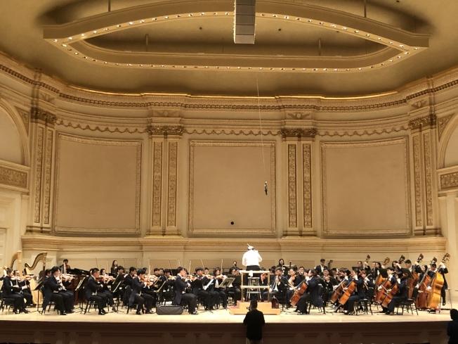 中央音樂學院曼哈頓卡內基音樂廳首演。(記者張晨╱攝影)