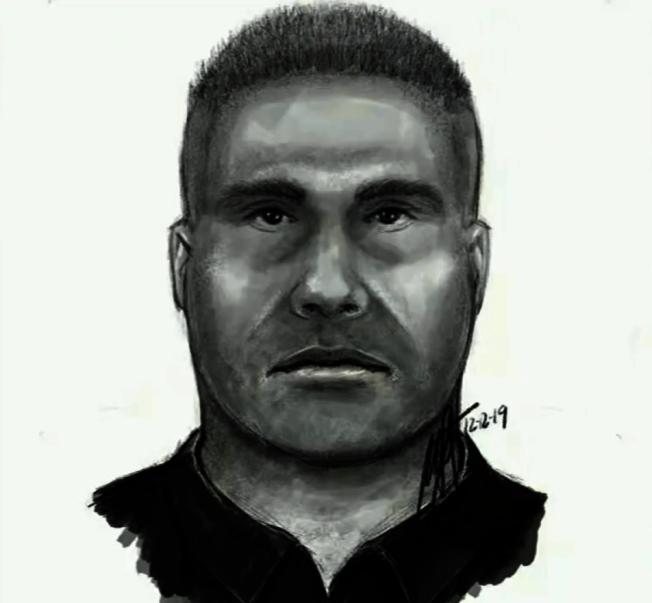 河濱市警方公布的嫌疑人畫像。(河濱市警局提供)