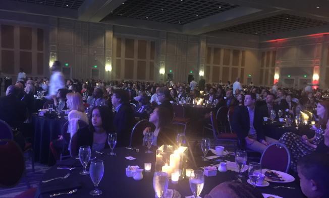 AdventHealth醫療(原佛羅里達醫院)2019年頒獎晚宴現場一景。(記者陳文迪/攝影)