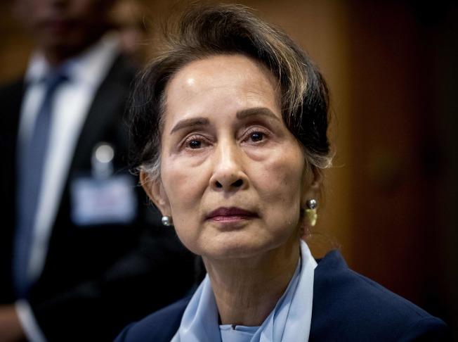 緬甸實質領導人翁山蘇姬要求國際法院法官撤銷指控緬甸種族滅絕的案子。(Getty Images)