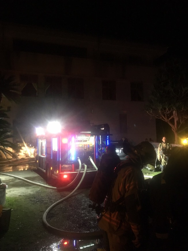 台南玉井區三埔里一處道友共修場所今天凌晨發生火警,致10死傷的慘劇。(記者吳淑玲/翻攝)