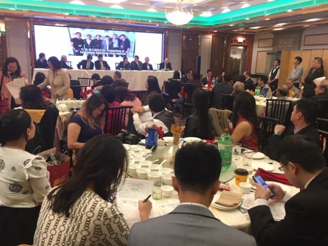 洛杉磯台美商會14日舉行2019年會員大會,選舉2020年理事會及新年度會長。(記者楊青/攝影)