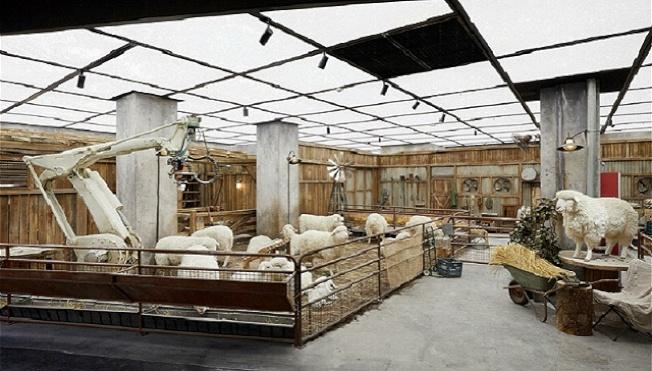 位在北京SKP一層的未來農場的「羊群」。(界面時尚)