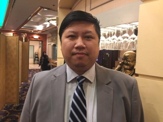 民進黨美西黨部執行委員吳兆峰。(記者楊青/攝影)