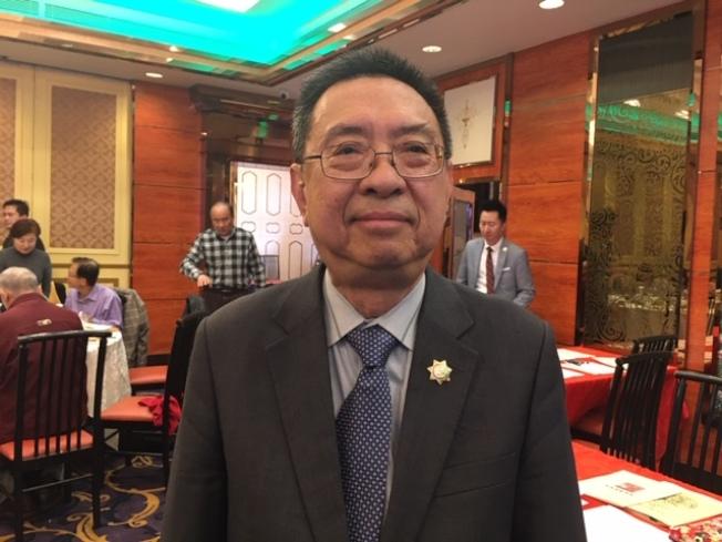 民進黨國策顧問、台灣會館董事長田詒鴻。(記者楊青/攝影)
