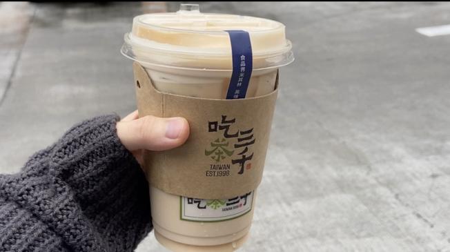 「吃茶三千」是台灣台中知名手搖飲料店「喫茶小舖」的新品牌。(記者謝雨珊/攝影)