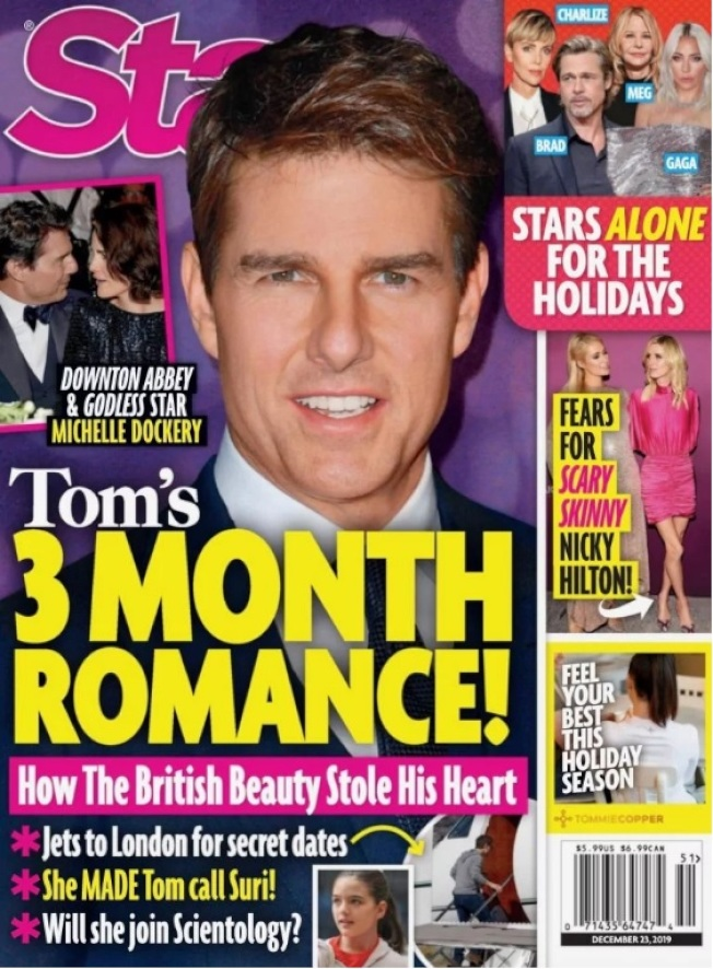 湯姆克魯斯被傳對英國女星蜜雪兒達柯莉產生仰慕之意,打算追求。(取材自Star)