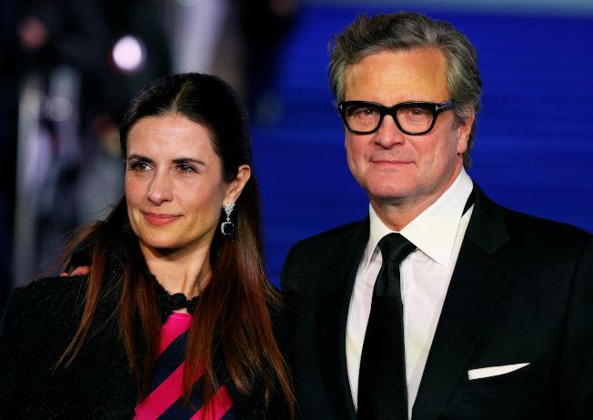 柯林弗斯(右)已和結婚22年的妻子莉薇亞發表分手聲明。(路透資料照片)