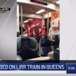 醉漢長島鐵路火車上捅人 被「耶誕老人」制伏