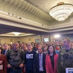 李佳芬洛城出席造勢大會  眾人高喊「佳芬姐,加油」