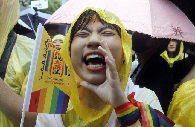 台灣同婚合法化將成泰國相關法案的助力。 美聯社