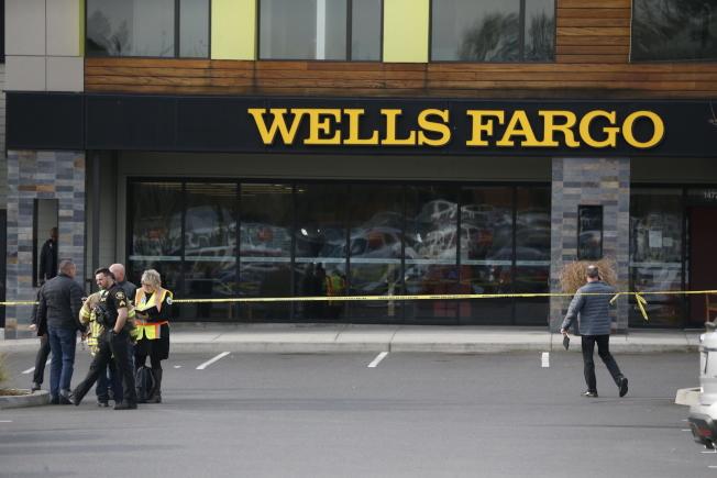 波特蘭市近郊發生一死三傷的攻擊案;案發後,警方將現場封鎖進行調查。(美聯社)