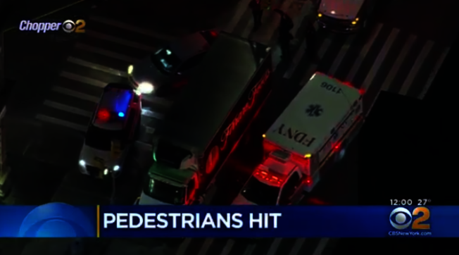 85歲的吉爾19日在布碌崙39街交3大道的十字路口,被一輛貨車撞傷,因傷勢過重被宣告不治身亡。(擷取自CBS視頻)