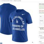 「洛杉磯的洛杉磯道奇」 T恤這樣寫 有典故!
