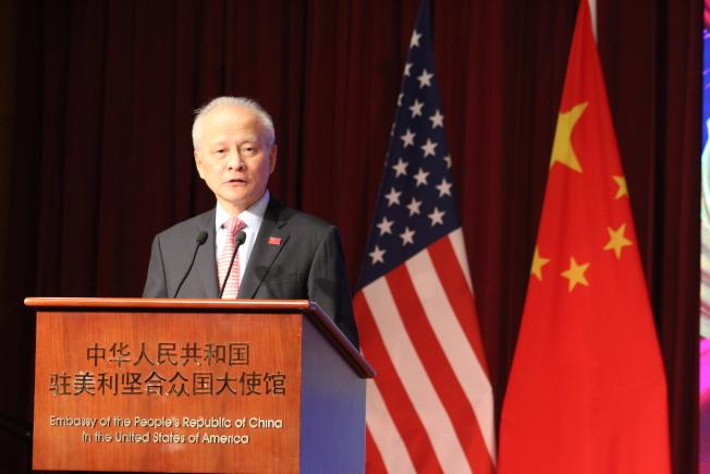 崔天凱表示,有些人把香港當做地緣戰略工具,借搞亂香港來遏制中國,但「絕對不會得逞」。(記者張筠 / 攝影)
